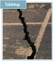 Earthquake tabletop image