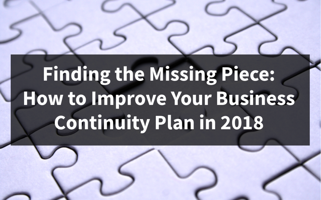 How to Improve Your Business Continuity Plan in 2018
