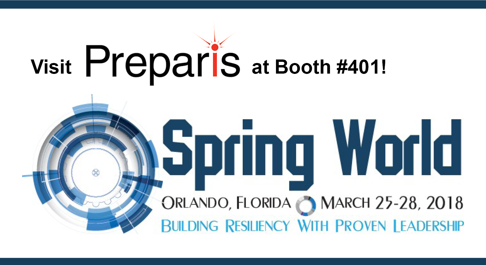 Preparis Plans to Attend DRJ Spring World in Orlando, FL