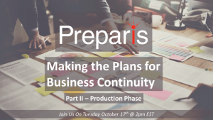 Making the Plans for Business Continuity - Part II Production Phase