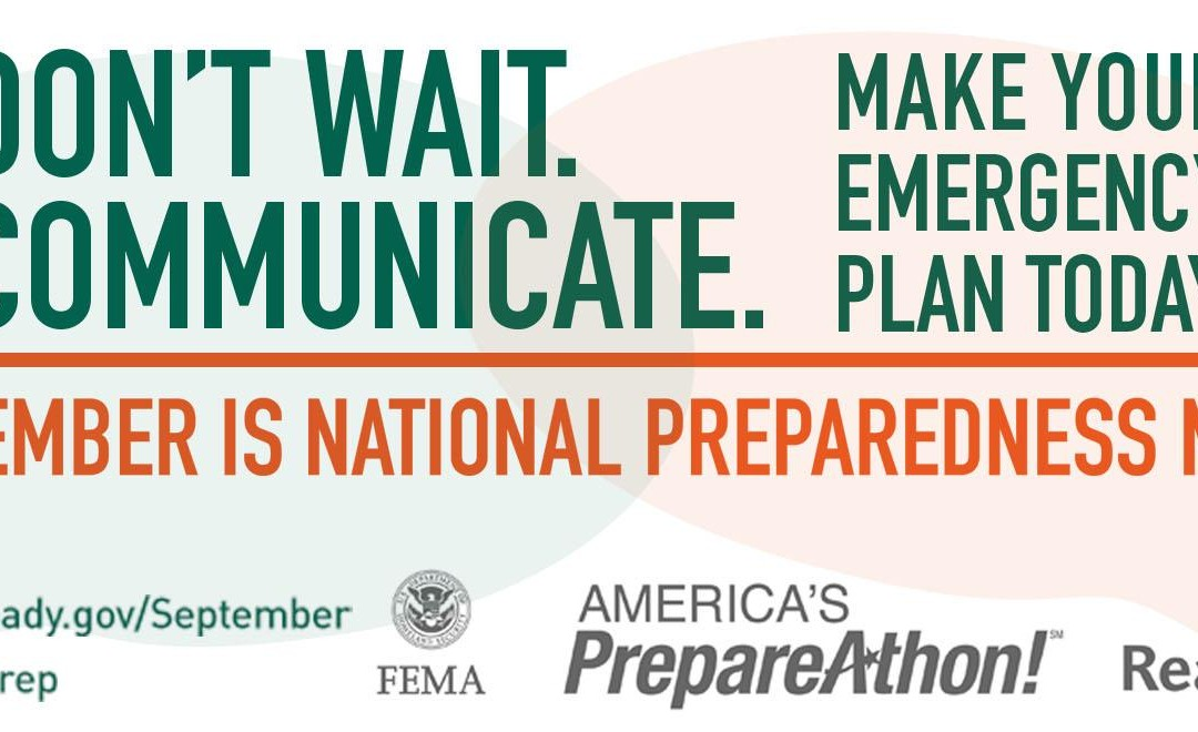 National Emergency Preparedness Month and the 30 Days, 30 Ways Challenge