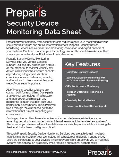 Security Device Monitoring Brochure
