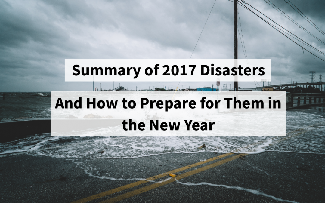 Summary of 2017 Disasters and How to Prepare for Them in the New Year
